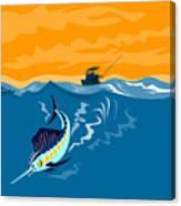 Sailfish Fishing Boat Canvas Print