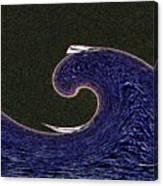 Sailin The Wave Canvas Print