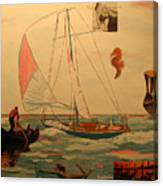 Sailing and other boats Canvas Print