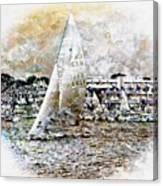 Sailing Boat, Nautical,yachts, Seascape Canvas Print