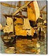Sailing Boat On The Canale Della Giudecca Canvas Print