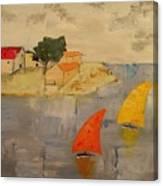 Sailing-boats Canvas Print