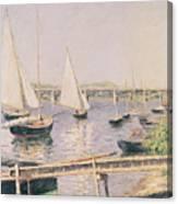 Sailing Boats At Argenteuil Canvas Print