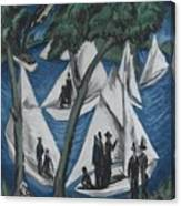 Sailing Boats Near Grunau Canvas Print