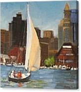 Sailing Boston Harbor Canvas Print