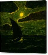 Sailing By Moonlight Canvas Print