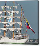 Sailing By The Battery Canvas Print
