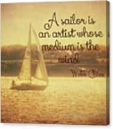 Sailing Chiles Canvas Print