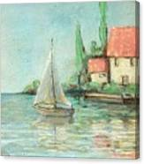 Sailing Day After Monet Canvas Print