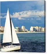 Sailing Destin, Fl Canvas Print