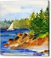 Sailing Downeast Canvas Print
