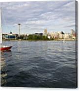 Sailing Downtown Canvas Print