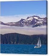 Sailing In Alaska Canvas Print
