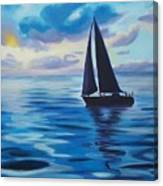 Sailing In Cerulean Blue Canvas Print