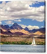 Sailing In Havasu Canvas Print
