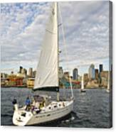 Sailing In Seattle Canvas Print