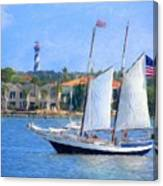 Sailing In St. Augustine Canvas Print