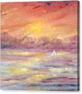 Sailing Into The Sun Canvas Print