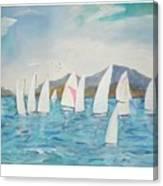 Sailing Lake Washington Canvas Print