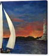 Sailing Liberty Canvas Print