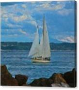Sailing On A Summer Day Canvas Print