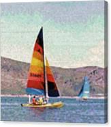 Sailing On A Utah Lake Canvas Print