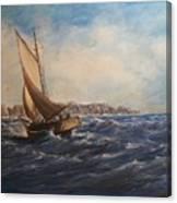 Sailing On Narragansett Bay Canvas Print