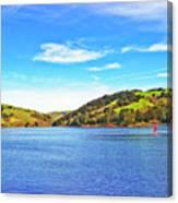 Sailing On San Pablo Dam Reservoir Canvas Print