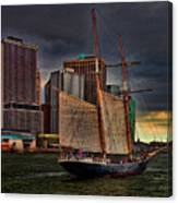 Sailing On The East River Canvas Print