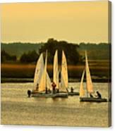 Sailing Practice Canvas Print