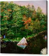 Sailing Rock Canvas Print