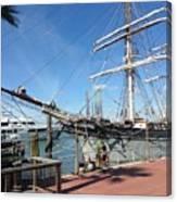 Sailing Ship At Galveston Canvas Print