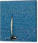 Sailing Solo Canvas Print