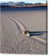 Sailing Stones Collide On The Racetrack Playa  Canvas Print