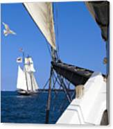 Sailing The Atlantic Canvas Print