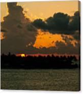 Sailing The Keys At Sunset Canvas Print