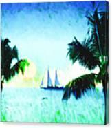 Sailing The Keys Canvas Print