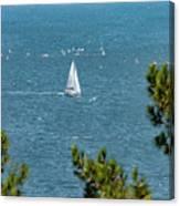 Sailing The Sea Of Marmara Canvas Print