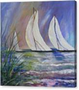 Sailing The Windy Sea Canvas Print