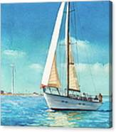 Sailing Through The Gut Canvas Print
