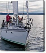 Sailing Up Canvas Print