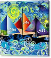Sailing With Dolphins Canvas Print