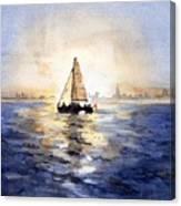 Sailor Eclipse Canvas Print