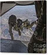 Sailors Jump Out Of A C2-a Greyhound Canvas Print