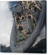 Sailors Operate A Rigid-hull Inflatable Canvas Print