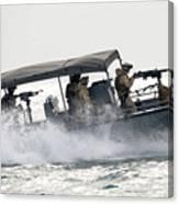 Sailors Patrol Kuwait Naval Bases Canvas Print