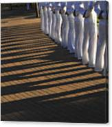 Sailors Stand At Parade Rest Canvas Print