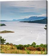 Sails On The Kyles Of Bute Canvas Print