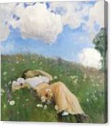 Saimi In The Meadow Canvas Print