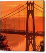 Saint John's Bridge At Sunrise Canvas Print